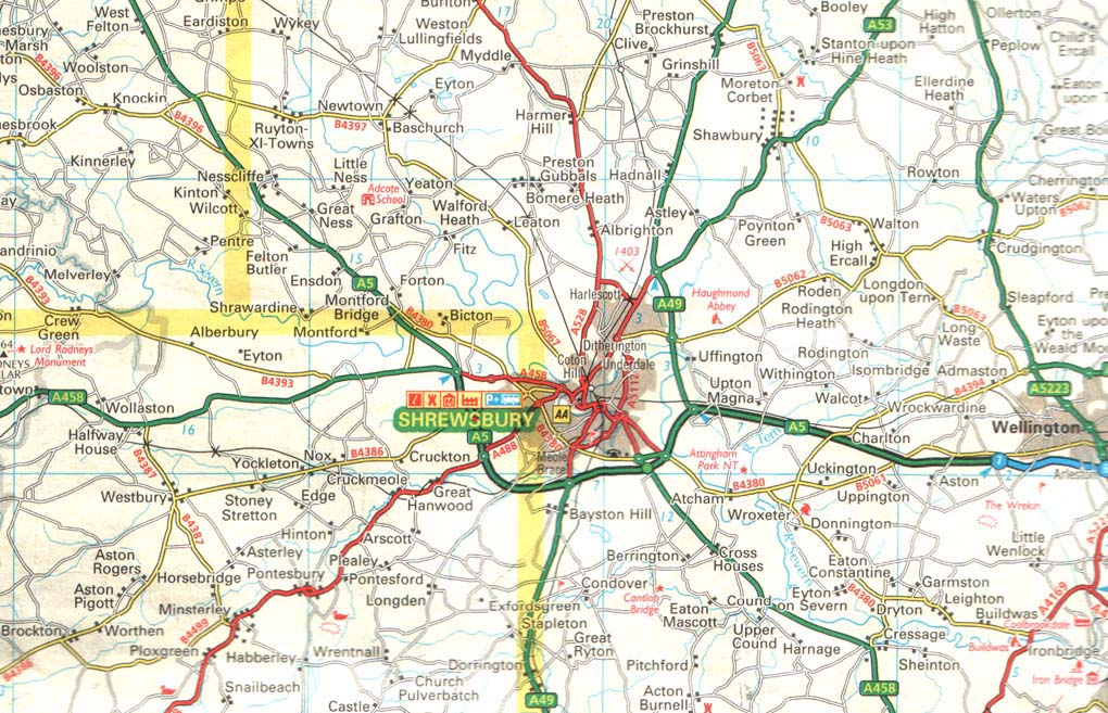 Maps of Shrewsbury